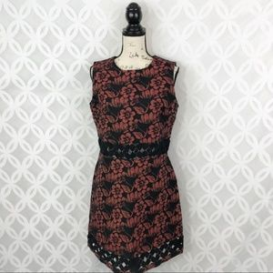 Topshop Floral Cutout Sheath Dress NWT